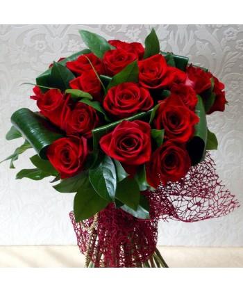 Buchet 23 trandafiri rosii