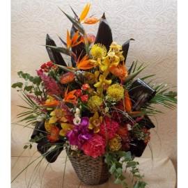 Aranjament high class din flori exotice