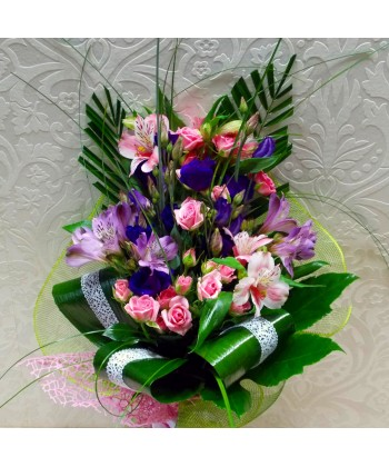 Buchet flori mix intens colorate