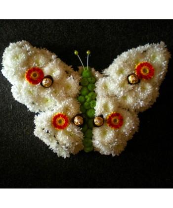 Aranjament fluture si praline de ciocolata