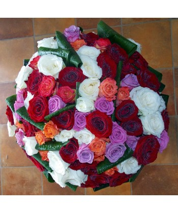 Buchet 101 trandafiri colorati