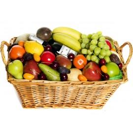 Aranjament cos fructe si vin