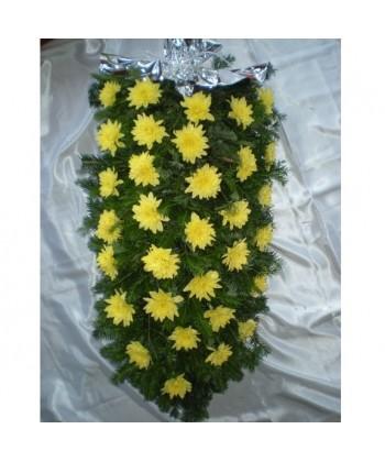 Jerba funerara din crizanteme galbene