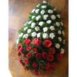 Condoleante in alb si rosu