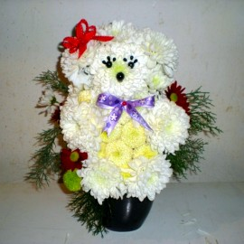 Ursulet polar din flori
