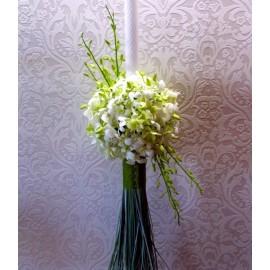 Lumanare nunta cu orhidee