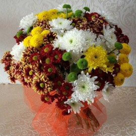 Buchet 29 crizanteme multicolore