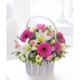 Cosulet aniversar din flori colorate