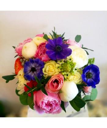 Buchet de mireasa multicolor in culori vii