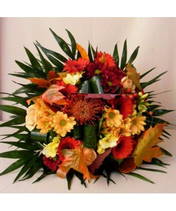 Buchet flori mixte, colorate de toamna - 15 flori