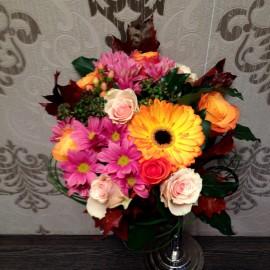 Buchet de flori viu colorat pentru Mihaela