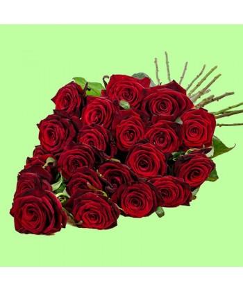 Buchet din 21 trandafiri rosii Grand Prix