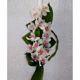 Lumanare nunta cu orhidee cymbidium