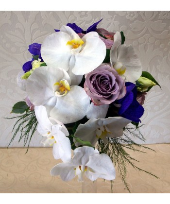 Buchet mireasa cu orhidee