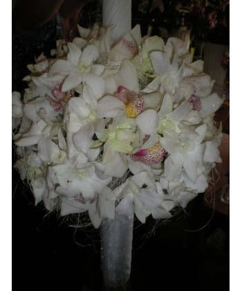 Lumanare de botez cu orhidee