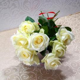 Buchet simplu din 9 trandafiri albi